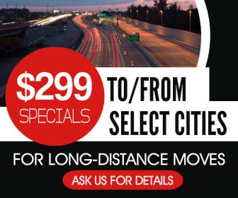 Edmonton Movers - $299 specials for long-distance moves